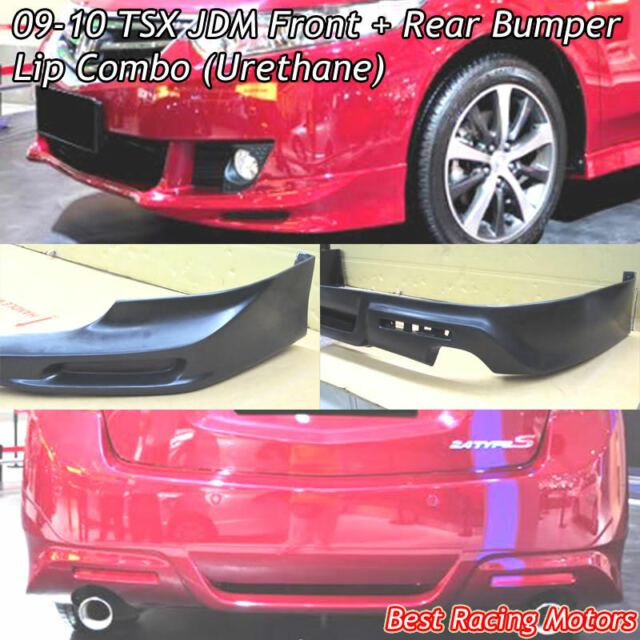 JDM Style Front + Rear Bumper Lip Combo (Urethane) Fits 09-10 Acura TSX 4dr