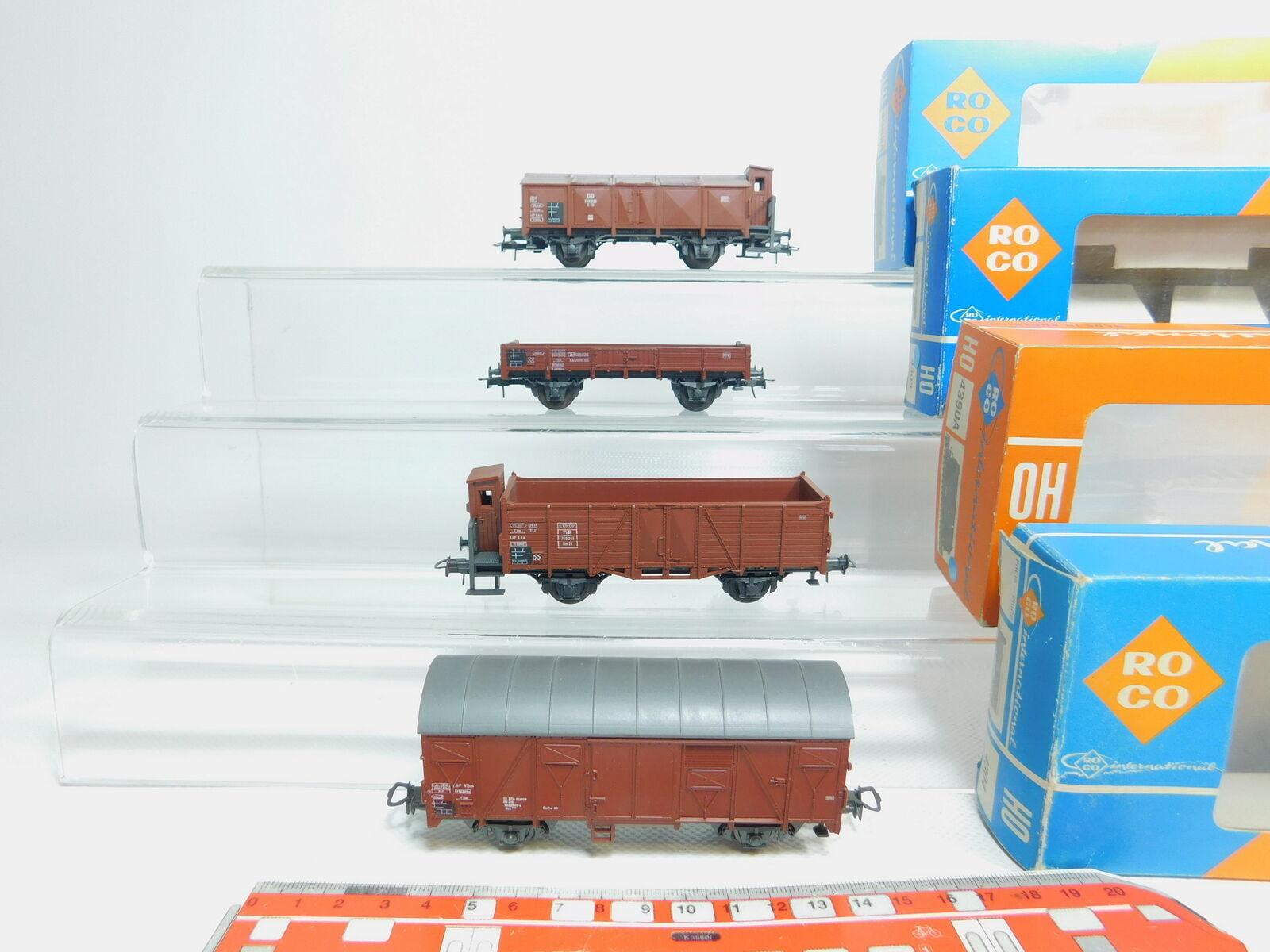 BL762-1x Roco H0 AC Güterwagen  4304,4390A,4389A,4303 DB sehr gut, OVP