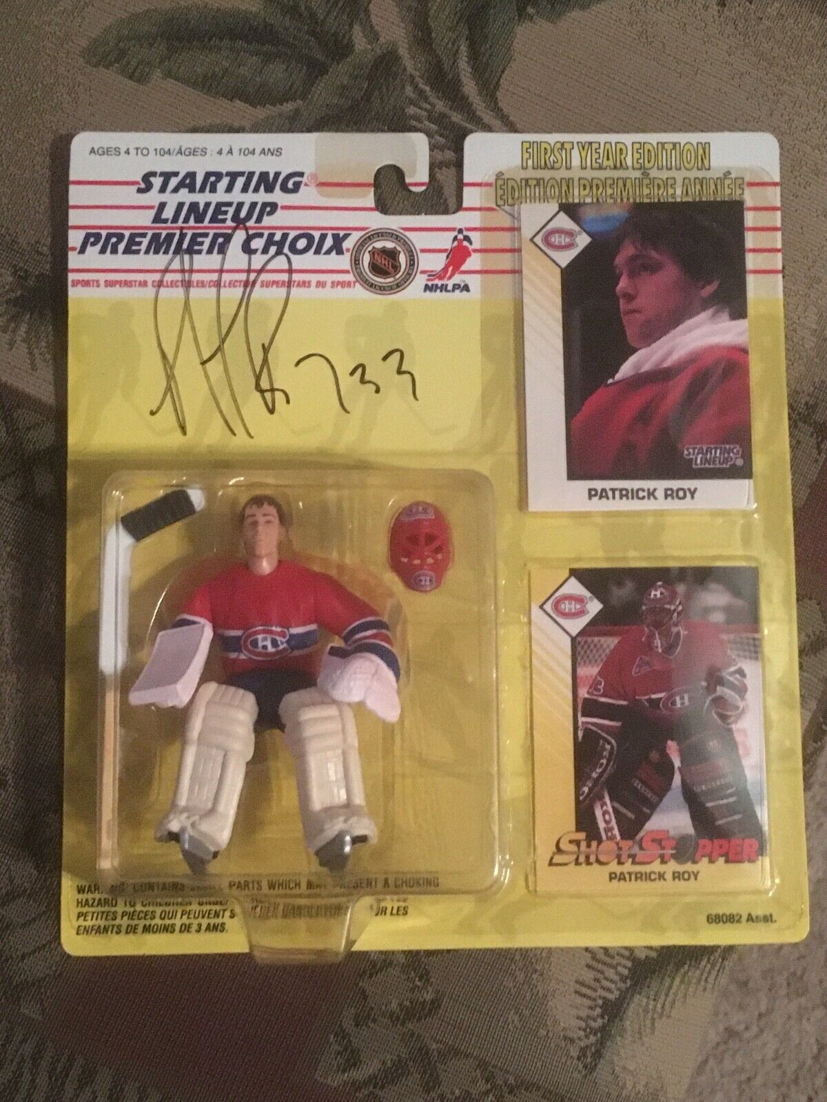 1993 estrellaTING LINEUP  33 PATRICK ROY MONTREAL CANADIANS SIGNED ROOKIE cifra