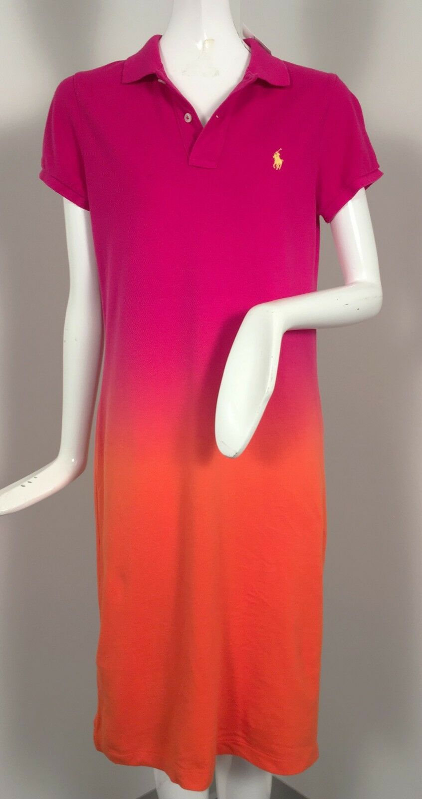 NEW Polo Ralph Lauren Dress   Dip Dye Design  Pink & orange or Yellow & Green