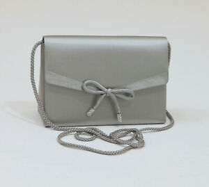 Valerie-Stevens-Silver-Gray-Satin-Evening-Purse