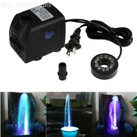 Submersible Pump Color Led Light Outdoor Fountain Water Fall Fish Aquarium Pump