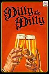 DILLY-DILLY-USA-MADE-METAL-SIGN-8-034-X12-034-FUNNY-MAN-CAVE-BAR-BEER-DRINKING-DECOR