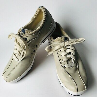 Women's KEDS 7M Beige Leather Bowling