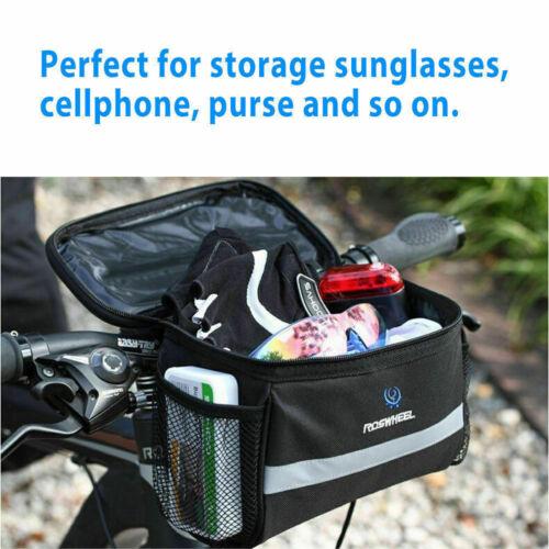 Cycling Bags Bicycle Bike Handlebar Bag Front Tube Pannier Rack Basket Outdoor