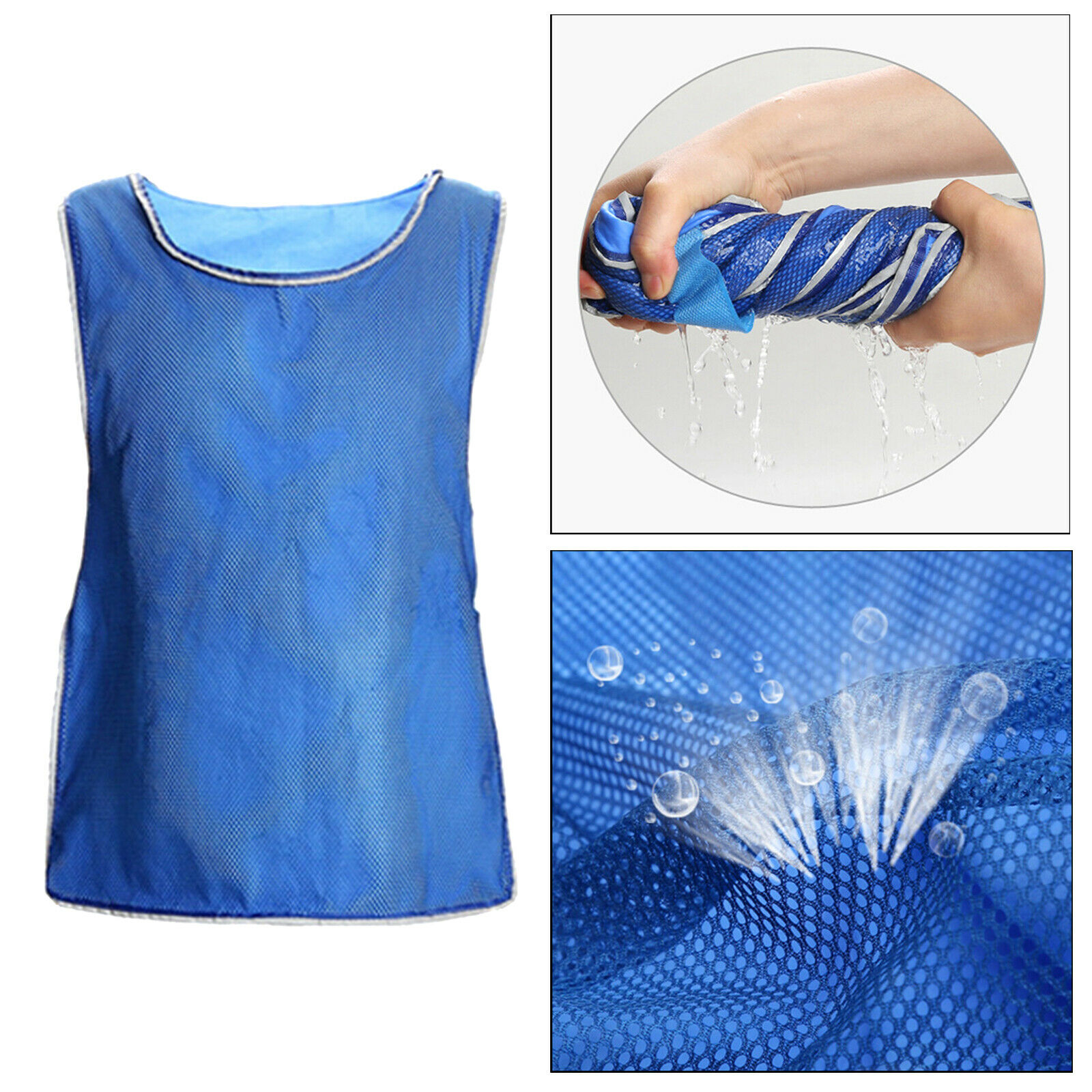 Unisex Mesh Fast Cool Summer Cooling Clothing Shirt Ice Vest for Outdoor