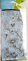 Beauty Stems Flower & Leaves Clear Acrylic Stamp Set By Inkadinkado 98973