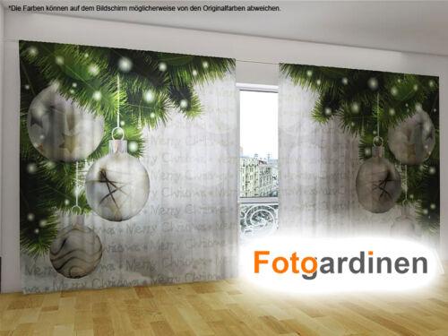 """Fotogardinen /""""Weihnachtsdeko/"""" Vorhang mit Motiv Fotodruck auf Maß Fotovorhang"""