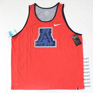 03916efc03605 Details about Nike Men s Dri-Fit Arizona Wildcats Matte Shine Logo Tank Top  Tee Shirt 2XL Red