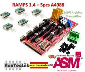 RAMPS-1-4-Control-Panel-Reprap-MendelPrusa-5pcs-A4988-Stepper-Motor-Drive