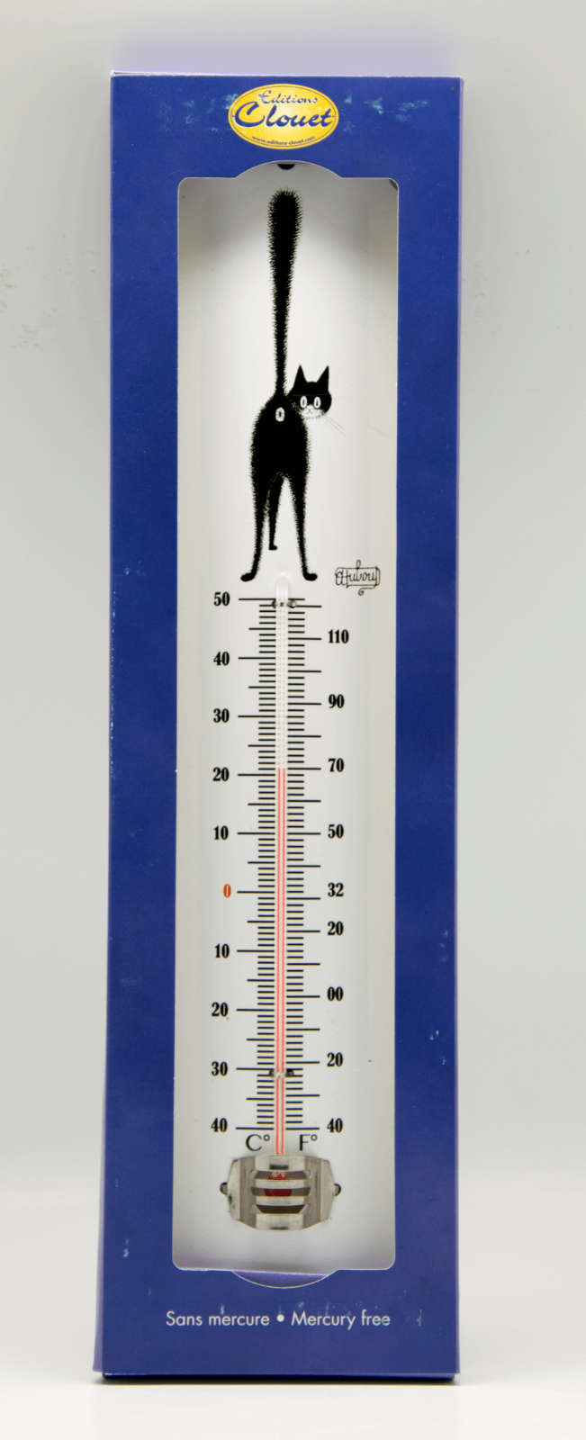 Dubout Cats - The Third Eye Garden Indoor Thermometer (3ieme Oeil) Vintage Retro