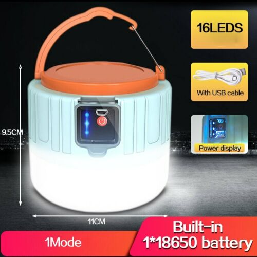 Remote Control Solar LED Camping Lantern USB Rechargeable Light Bulb Tent Light