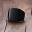Anello-Fede-Fascia-Uomo-Donna-Unisex-Acciaio-Steel-Nero-Black-Incisione-Quadrato miniatura 2