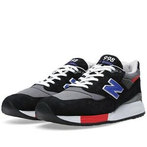 new balance 998 black red ebay