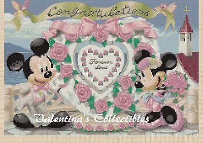 "/""Micky and Minnie/"" 11CT cross stitch kits  40cm*40cm"