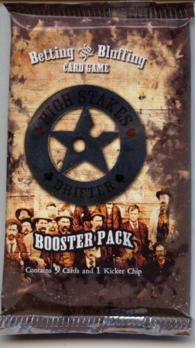 High Stakes Drifter CCG Booster Pack lot of 6 MINT Wizkids poker