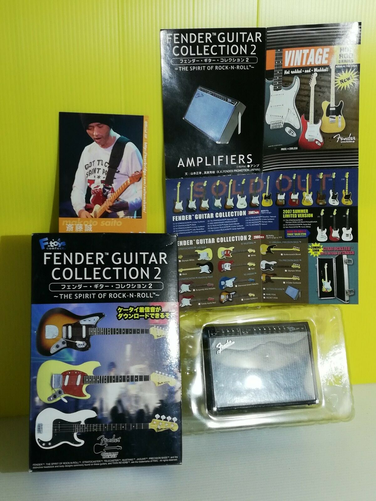 F-Toys 1 8 Fender Guitar Collection 2 AMPLIFIERS Model Kit