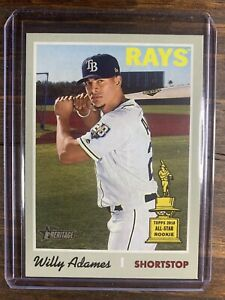 2019-TOPPS-HERITAGE-BASEBALL-WILLY-ADAMES-211-ROOKIE-CARD-RC-Tampa-Bay-Rays-MLB
