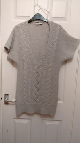 Worn 10 Cashmere Layering Grey Long Once White Company 8 Small 100 Jumper 12 aqzRw6P
