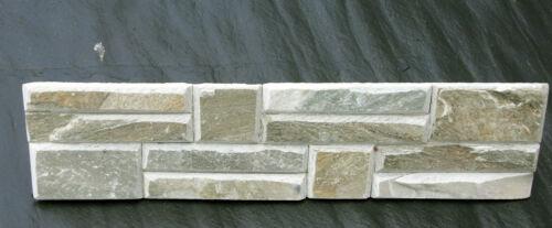Gelb gefast Riemchen Wandverkleidung Naturstein Wandverblender Bricks