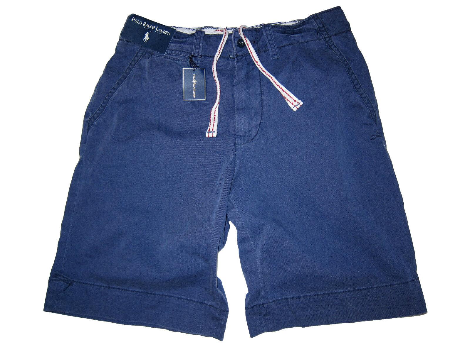 Polo Ralph Lauren Navy bluee Big Pony Flat Front Shorts 33