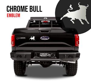 Chrome Fighting Bull Badge Emblem Decal Car Truck Bumper Fender Sticker Spain