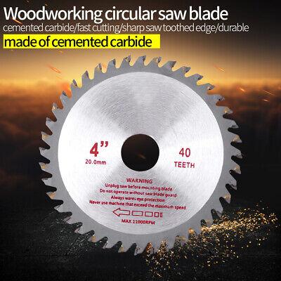 environ 10.16 cm 4 in 40 T Lame de scie circulaire pour bois de coupe en métal de coupe Cutter Outil Nouveau