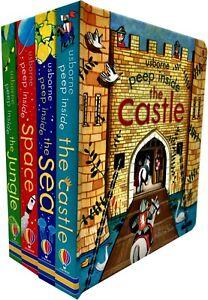 Usborne-Peep-Inside-Collection-4-Books-Set-Peep-Inside-Space-Sea-Jungle-Castle