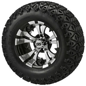 20x10 10 Black Trail 10x7 Blk Mach Warlock Wheel Club Car Precedent