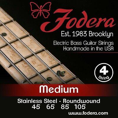 FODERA 45105-SS STAINLESS STEEL BASS STRINGS, STANDARD GAUGE 4's - 45-105
