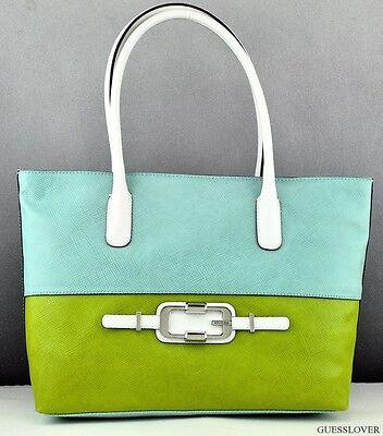 Details about FREE Ship USA Handbag GUESS JONSI Satchel Bag Brown Multi Chic Stylish