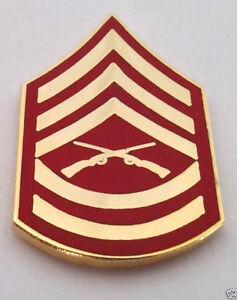 US MARINE CORP RANK E6 STAFF SGT Military Veteran Hat Pin 14390 HO