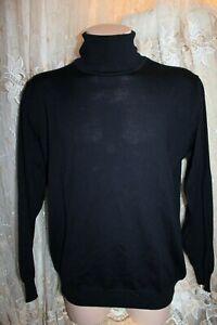 Schurwolle Pullover COMMANDER Finest Clothing wool Gr. L dunkel blau