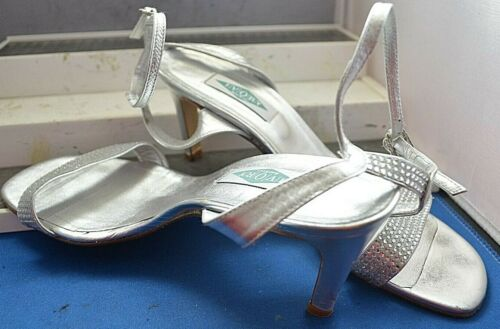 Elegant 39 con Designer borchie 6 Eu argento Uk zeppa scarpe Bond new con Ivory xwfFEOq
