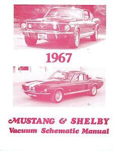 1967 67 mustang shelby vacuum schematic ebay rh ebay com