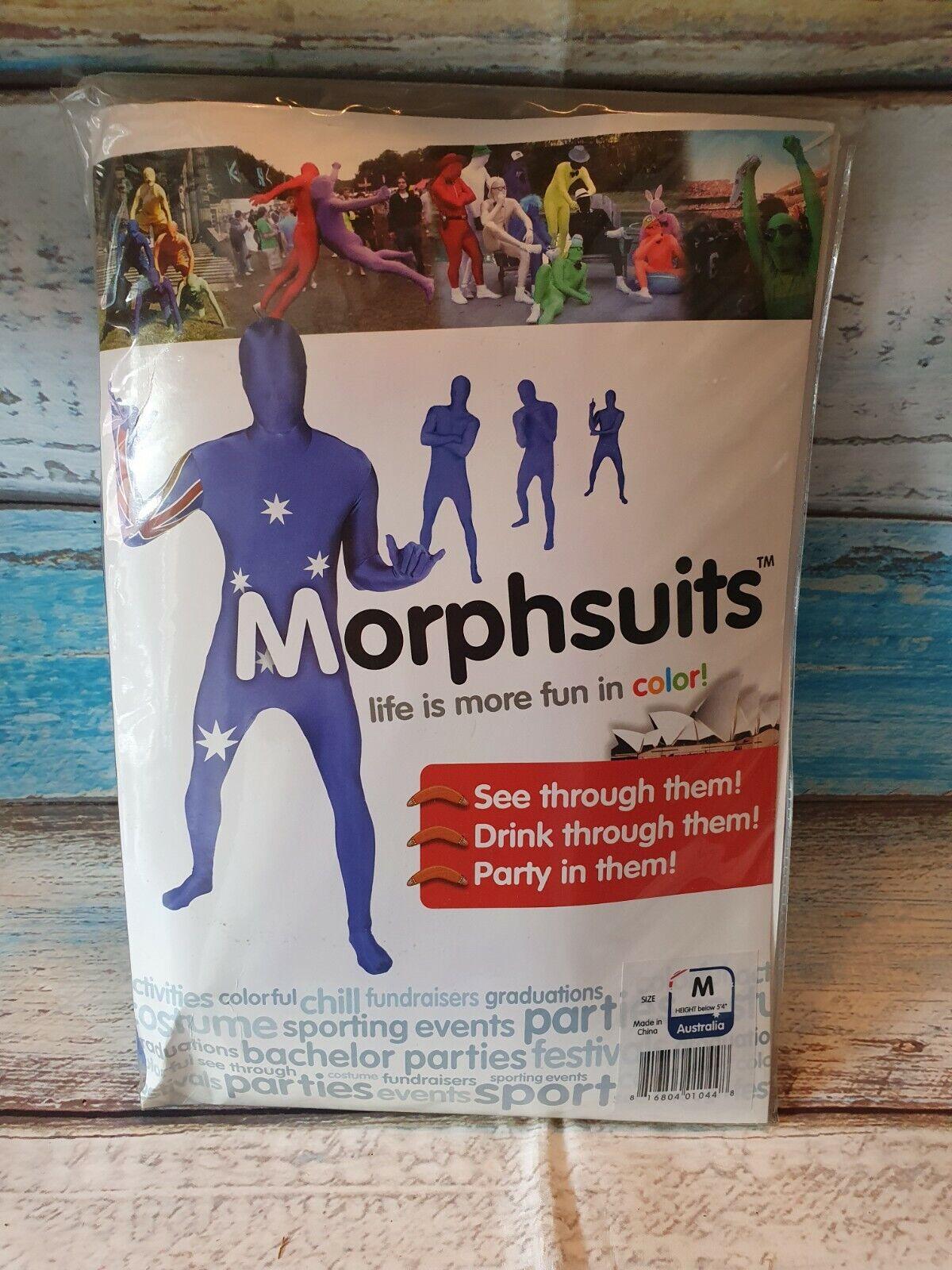 "Morphsuits AUSTRALIA Original Flag Fancy Dress Costume - size Medium - 5""-5""4"