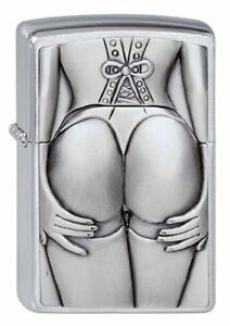 Stocking-Girl-Zippo-Lighter-in-Brushed-Brass-Windproof-Cigarette-Lighter-1300116