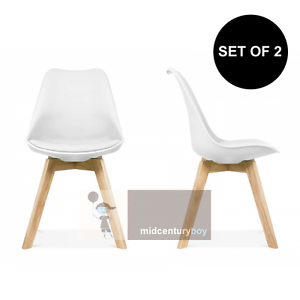 Image Is Loading Set Of 2 Mid Century Modern DSW White