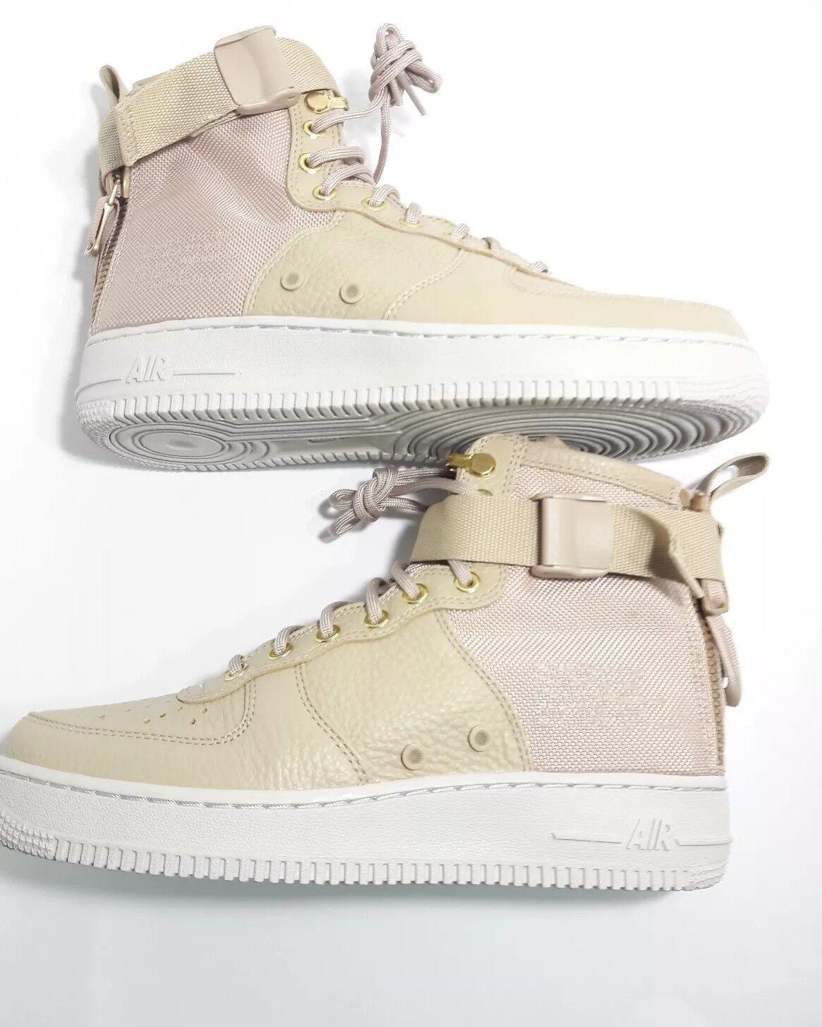 NIKE  Women Men Special Field Air Force 1 Mid Sneakers Beige shoes SF