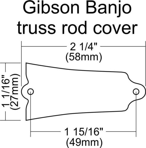 Blank Truss Rod Cover for Gibson Banjo