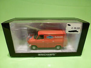 MINICHAMPS-82261-FORD-TRANSIT-1965-DAIMON-BATTERIEN-RED-1-43-MINT-IN-BOX