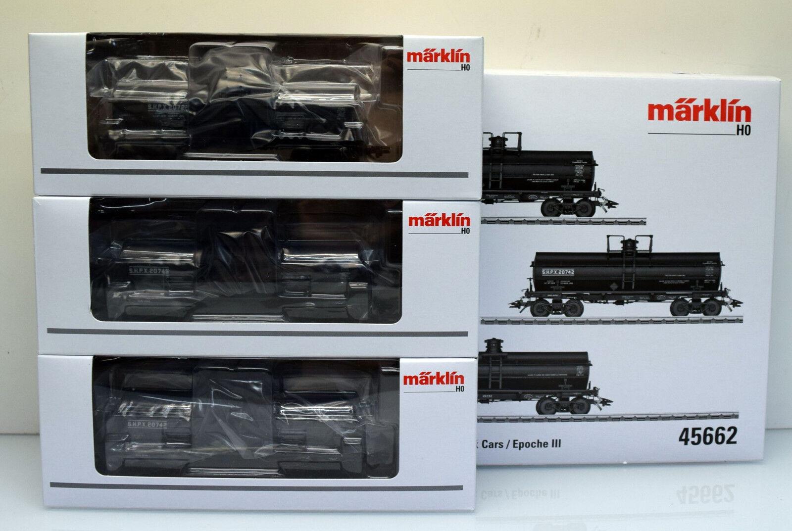 Märklin h0 45662 vagoni-Set serbatoio Cars, Nero, 3 pezzi