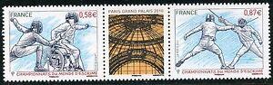 Industrieux Stamp Timbre De France N° 4510/4511 ** Championnats Du Monde Escrime Paris 2010