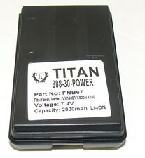 Tank FNB-V67LI Li-Ion Battery for Vertex Standard VX150 More-18 Month Warranty