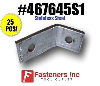 #467645S1 QTY 1 45 Degree Corner Angle Bracket Stainless Steel for Unistrut