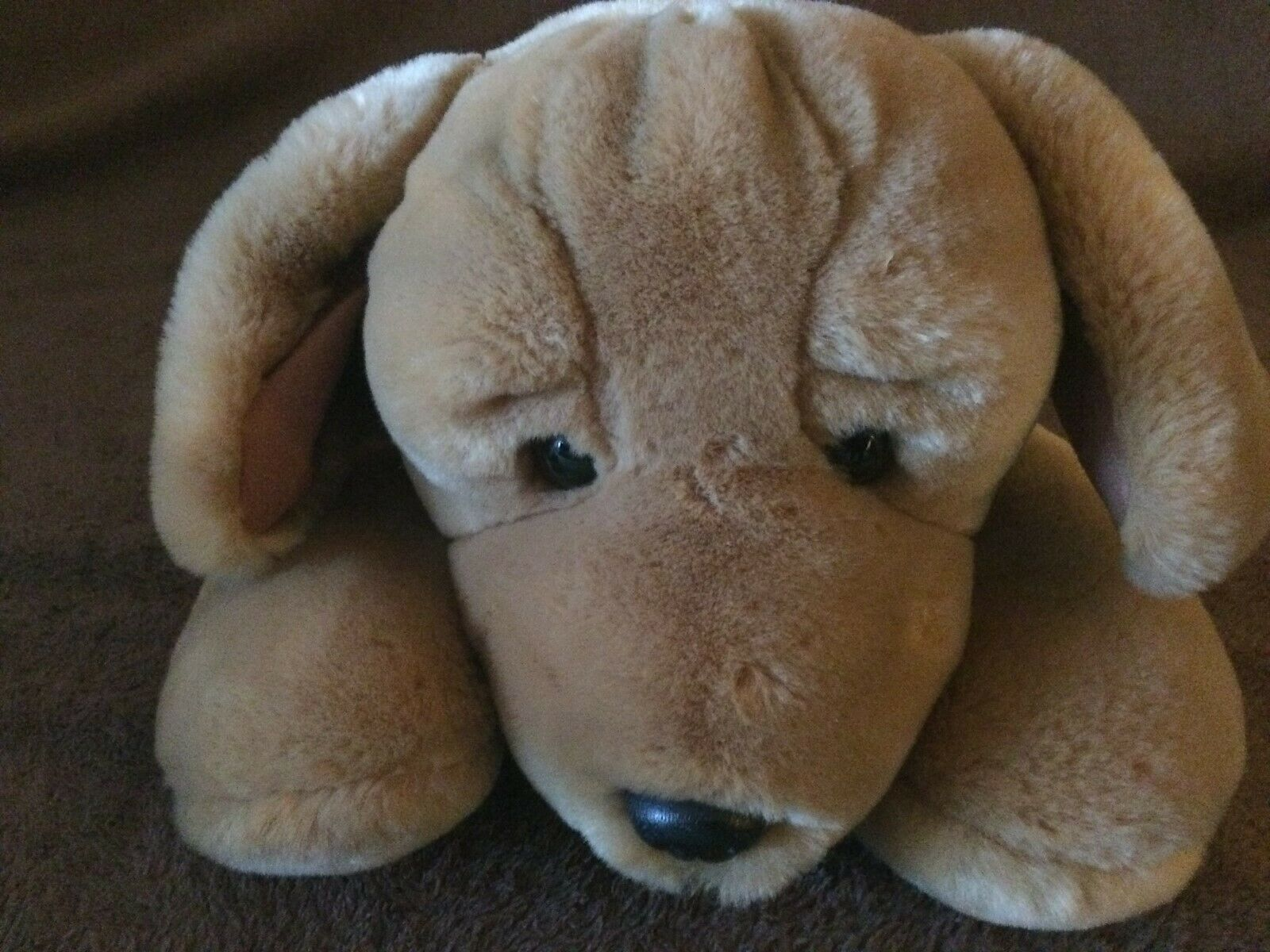 VINTAGE MOTHERCARE SOFT TOY   LAYING DOWN LABRADOR PUPPY