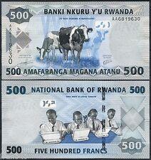 RUANDA RWANDA 500 Francs francos 2013 Pick 38 AA SC / UNC
