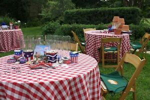 Great Image Is Loading 5 Checkered 120 034 Round Tablecloths Gingham Buffalo