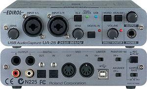 roland edirol ua 25 usb midi audio interface capture 24 bit ua 22 ua 55 ebay. Black Bedroom Furniture Sets. Home Design Ideas