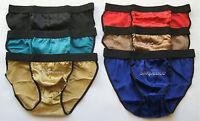 6 Mens 100% Silk Bikini Briefs Waist 30 31 32 Small M Silkpeace Us Seller